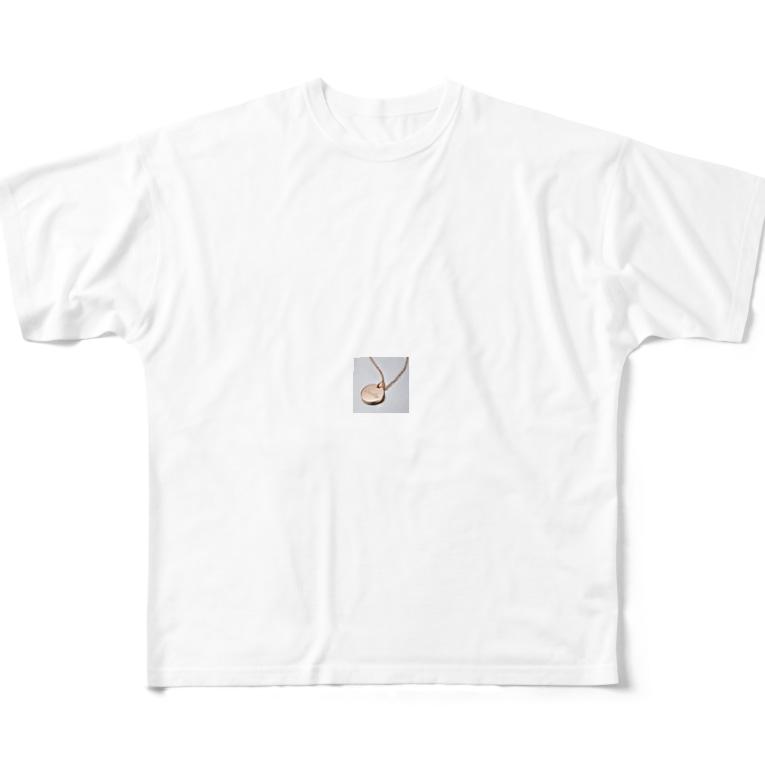 sfjuommxllのペアネックレス 刻印 芸能人愛用 ネックレス ペア 人気 メッセージ 店舗 Full graphic T-shirts