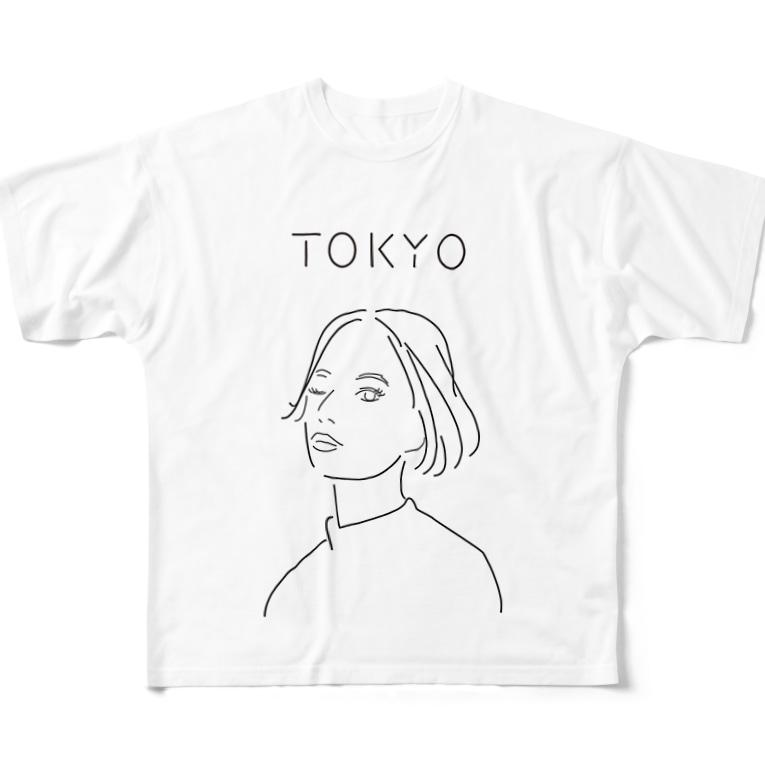 Hiroko💐のTokyo girl All-Over Print T-Shirt