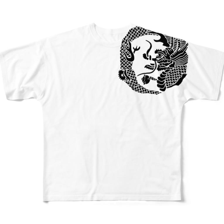 鯔背屋の竜家紋 Full graphic T-shirts