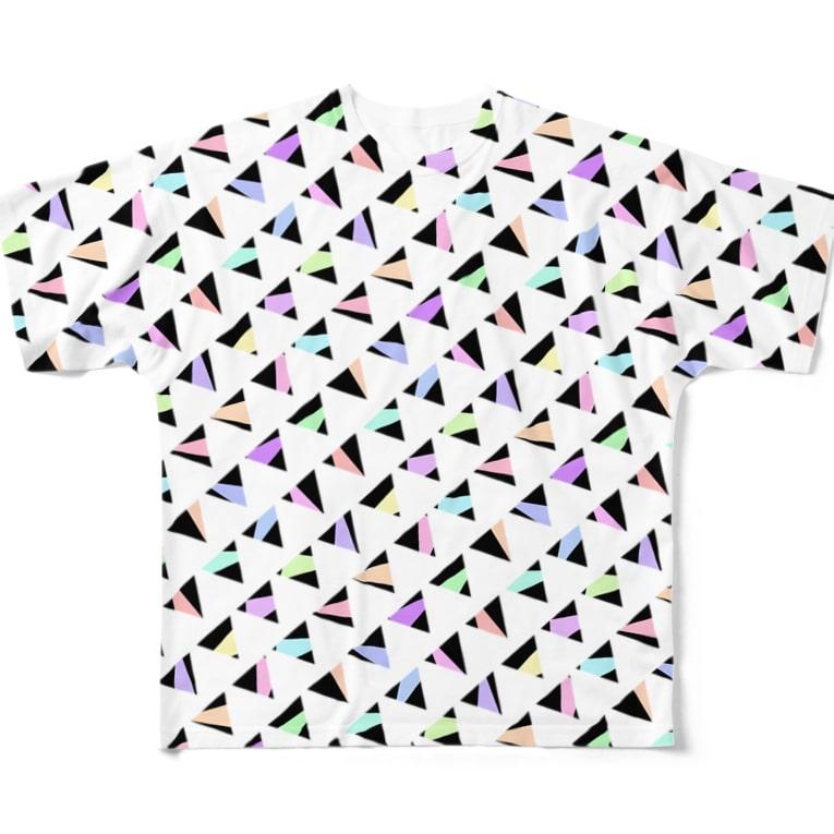 るーと。:°ஐ*。:°ʚ♥ɞ*。:°ஐ*の【オリジナル】△ Full graphic T-shirts