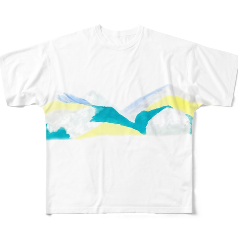 かもめのO-yama Full graphic T-shirts