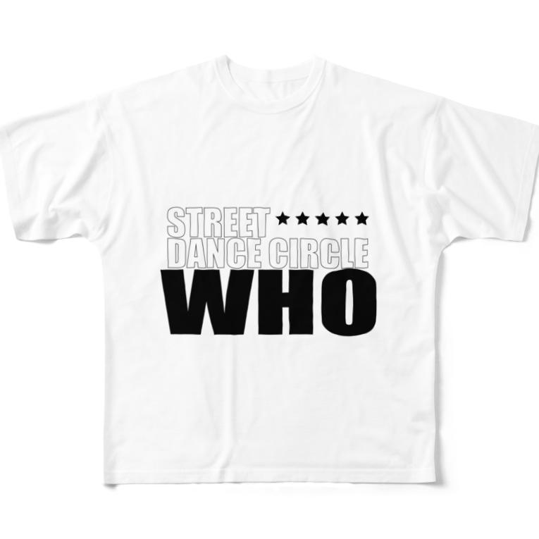 HakiDameの2017WHO胸ロゴブラック Full graphic T-shirts