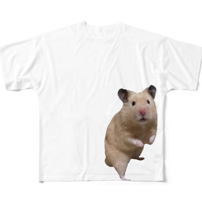 hanaのキンクマてぃーだ君 Full graphic T-shirts