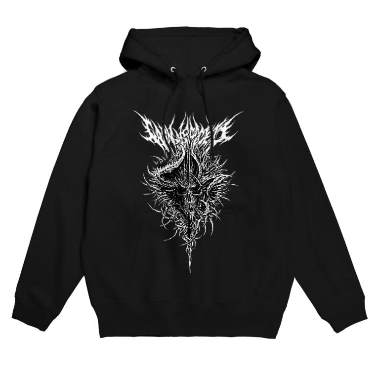 yu−ki iwata【Carnage Society】のSKULL(BLACK) Hoodies