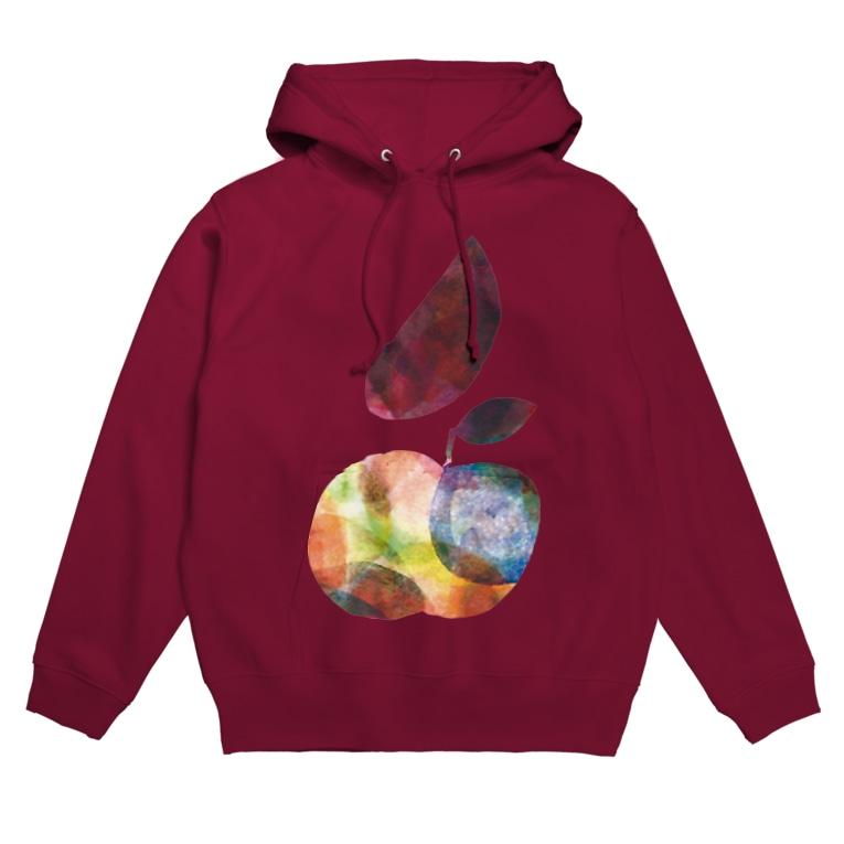 KAERUCAFE SHOPの虹の梨 Hoodies