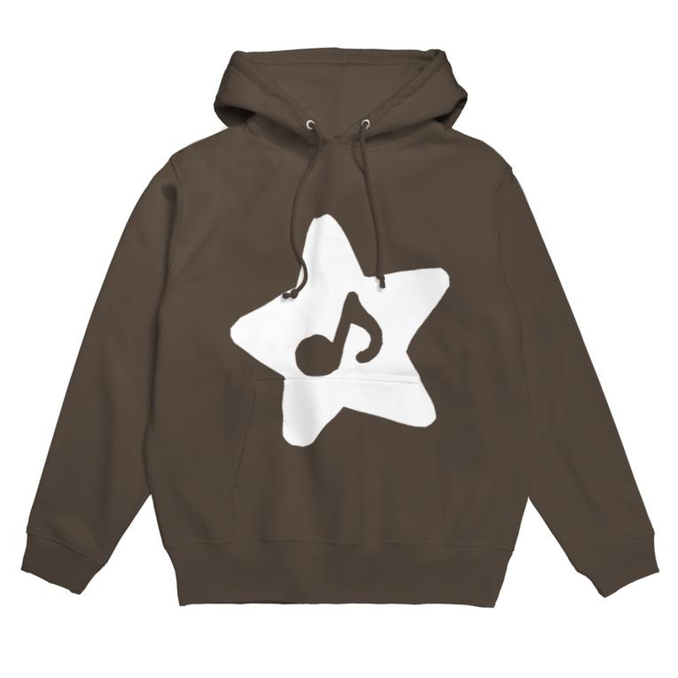 minoli Destinyのminoli Destiny WHITE STAR Hoodies