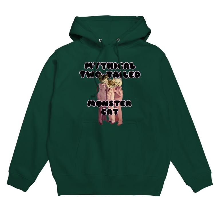 hazuhazu522のMYTHICAL TWO-TAILED MONSTER CAT Hoodies