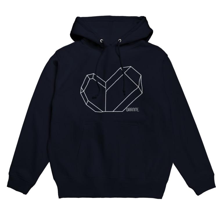 SAUDI FARMの水晶-日本式双晶(白) Hoodies