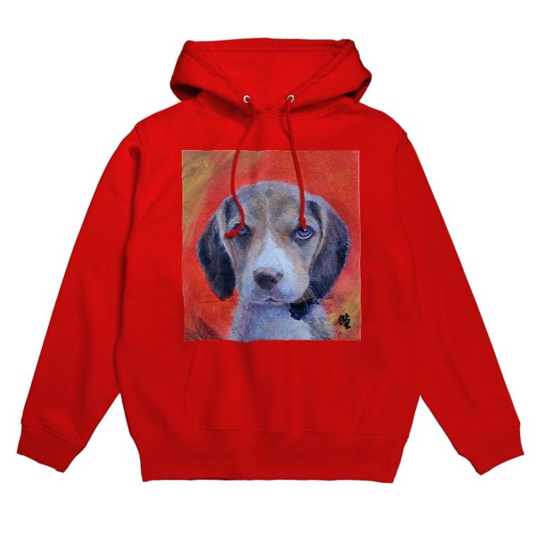 Akiyoのフィレンツェ画房 の犬 Dog NumberOne Hoodie