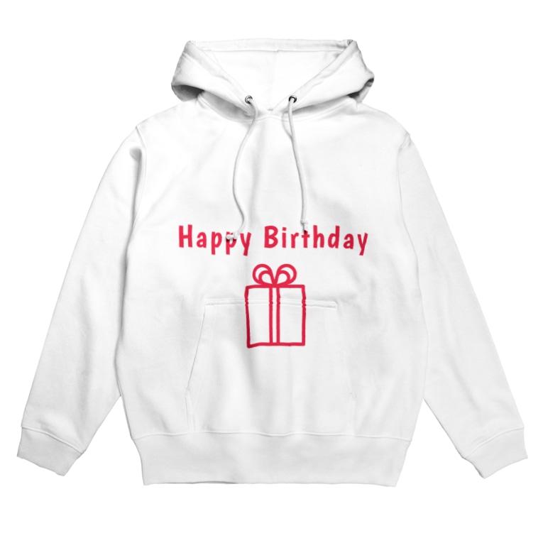mariberu キッズ☆子供☆ママ☆パパ☆ペアのHappy Birthday  Hoodies