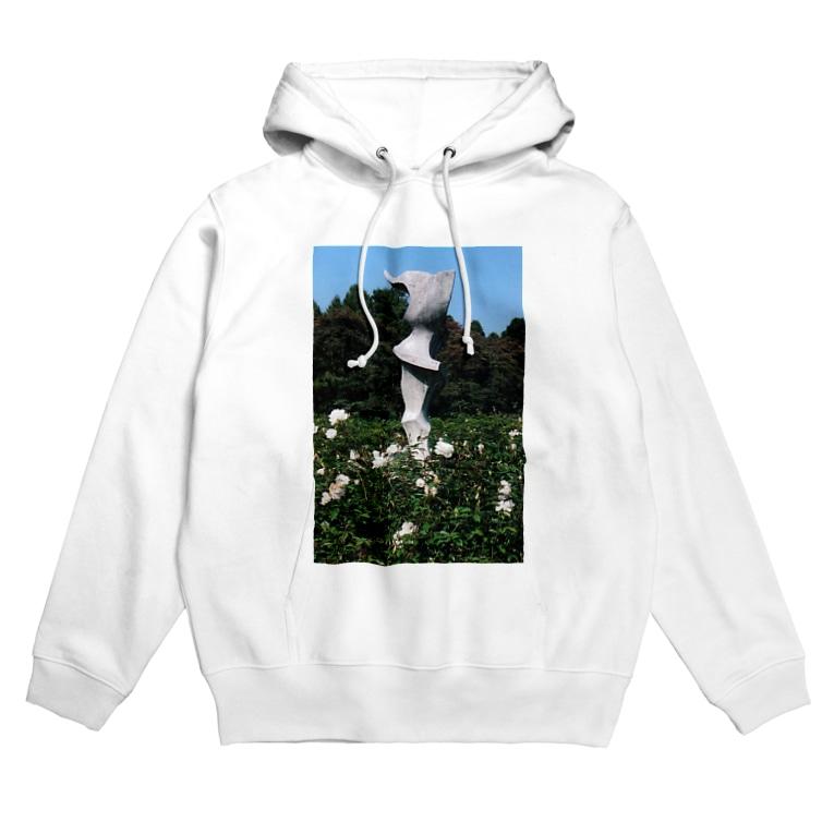 Dreamscape(天空の風)のホワイトガーデン Hoodies