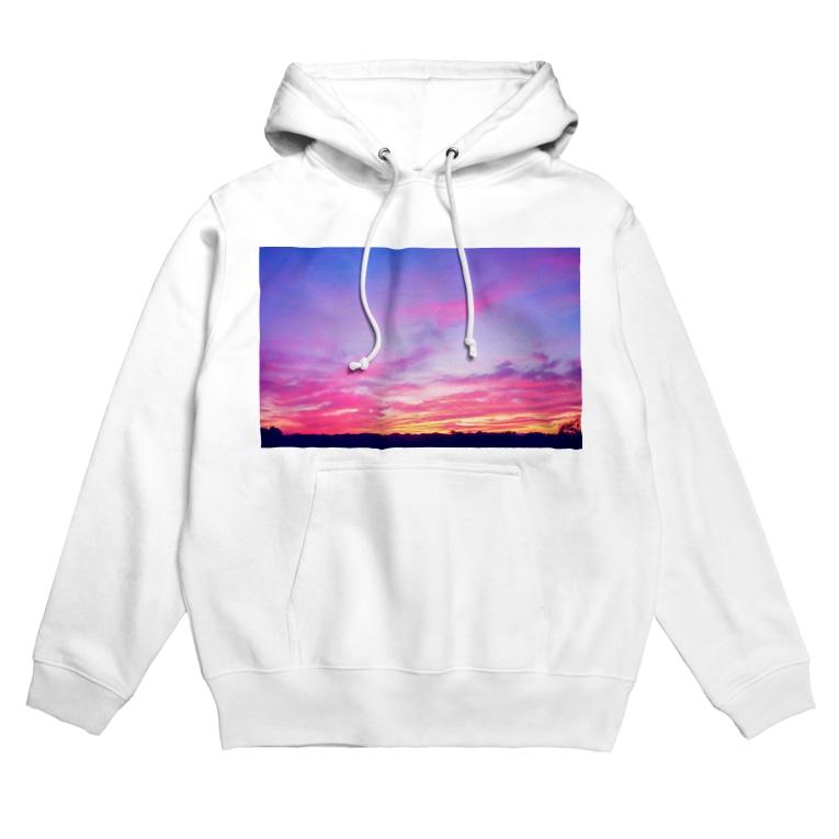 DOLUXCHIC RAYLOのPink Sunset sky Hoodies