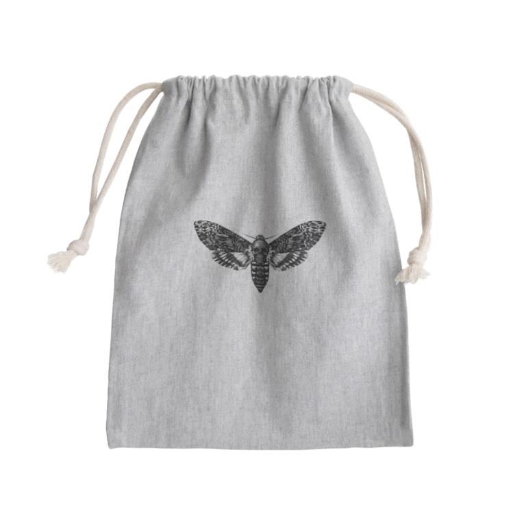 シャレコーベミュージアムのメンガタスズメ Mini Drawstring Bag