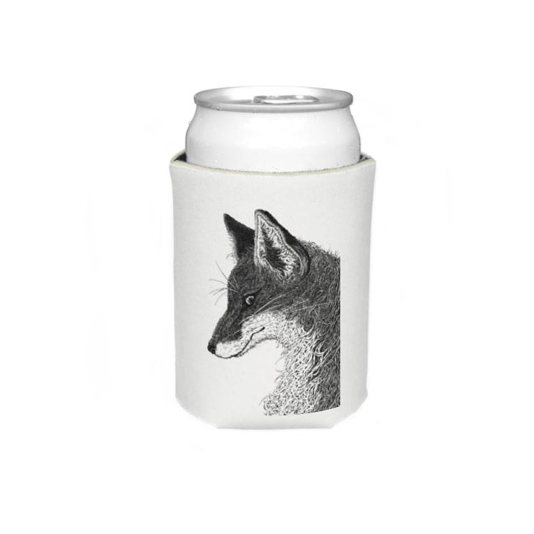 いきものイラストショップの狐の頭部 Koozies