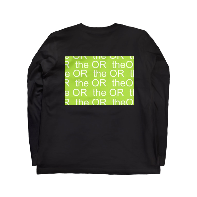 THE ORのTHE OR ロングスリーブTシャツ1 Long sleeve T-shirtsの裏面