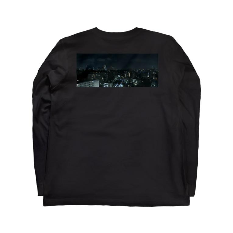 TENRIVERS_FILM 応援グッズのTENRIVER_FILM 応援グッズ 夜の街 背面プリント 前面ロゴ Long sleeve T-shirts