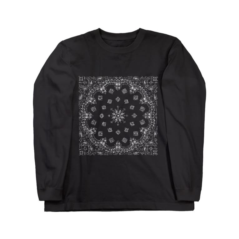 風丸本舗のペイズリーラバーズ Long sleeve T-shirts
