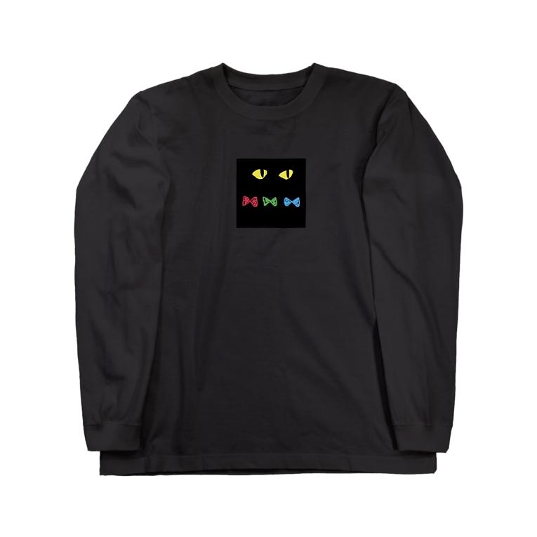 higanbanaのくろねこ Long sleeve T-shirts