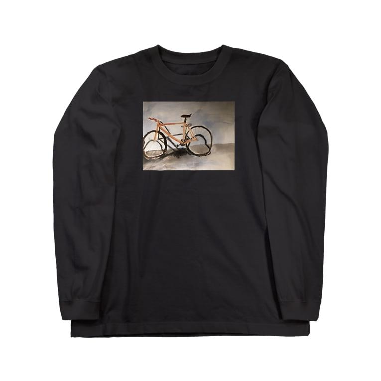 hayatexの盗まれた自転車の遺影です Long sleeve T-shirts