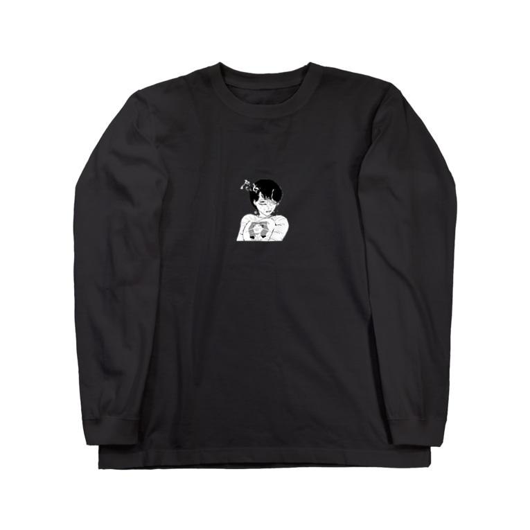 peequodのpeequod×小骨トモ コラボ Long sleeve T-shirts