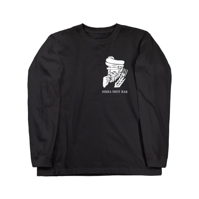 NIKKA SHOT BAR 大阪・高槻市のNIKKA SHOT BAR 白ロゴ Long sleeve T-shirts