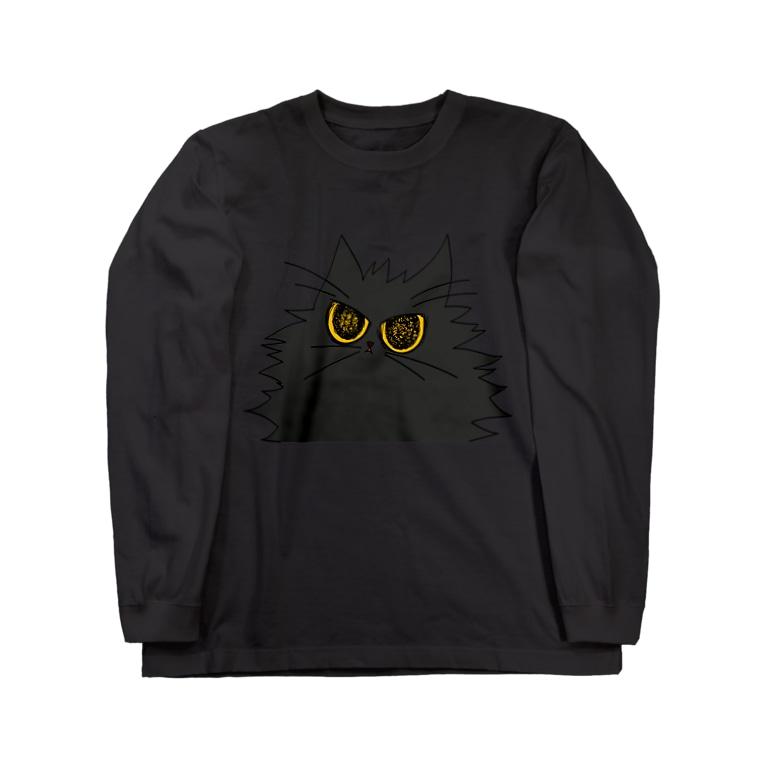 気まぐれ猫系店の鬼気迫る時雨 Long sleeve T-shirts