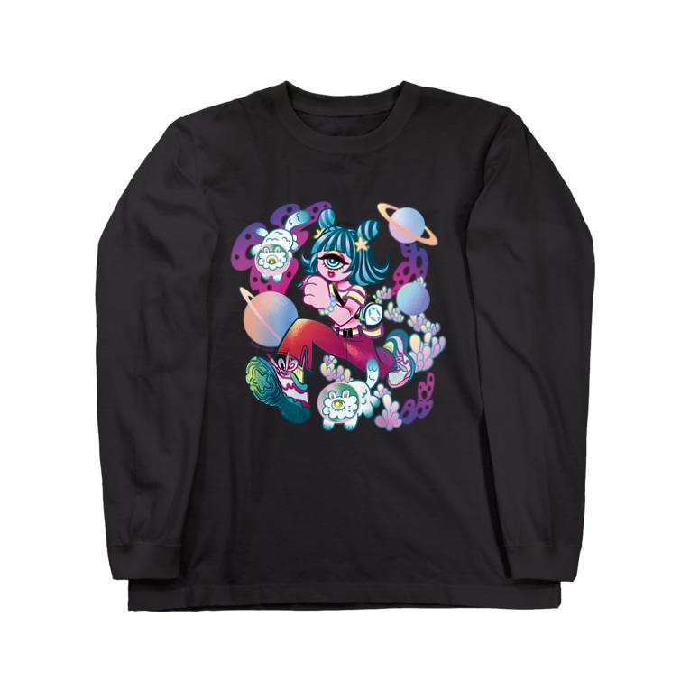 Makiko KodamaのStreetは宇宙 Long sleeve T-shirts