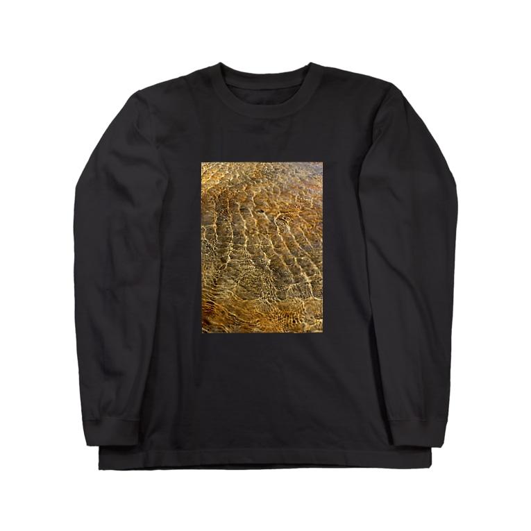 Wave8284の川の波紋 Long sleeve T-shirts