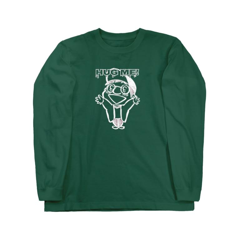 野村タダフミ (ストリーキング計画)のはぐみー(白イラスト) Long sleeve T-shirts