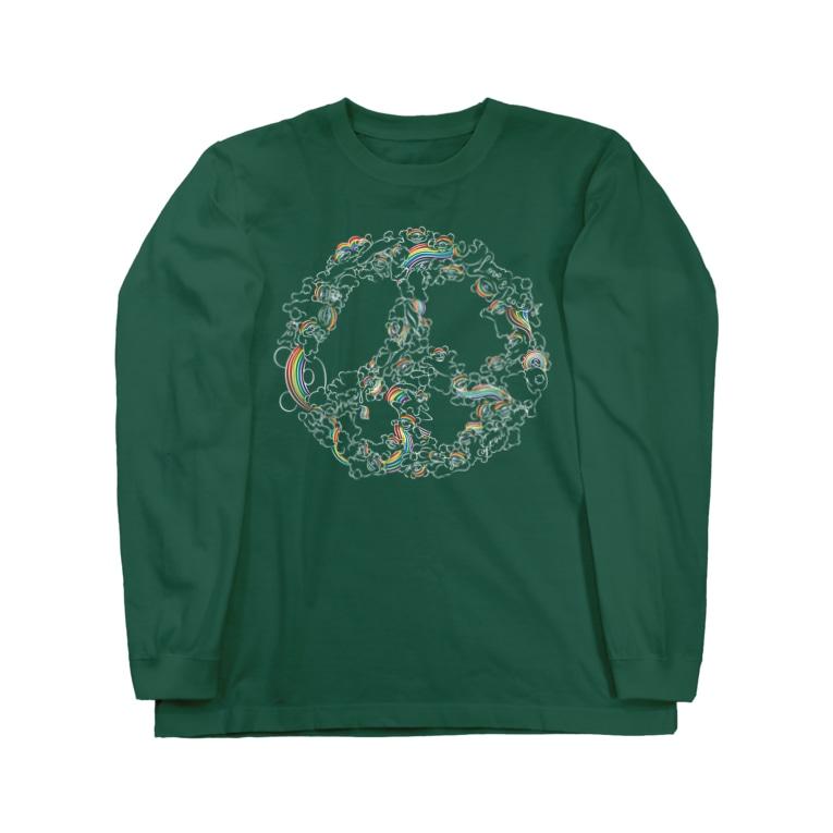 APT406のRainbow Bear Love and Peace  Long sleeve T-shirts