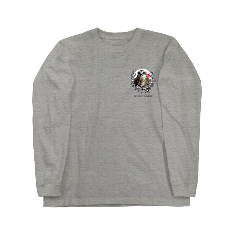 Pulmo(プルモ)のNO OWL, NO LIFE. Long sleeve T-shirts