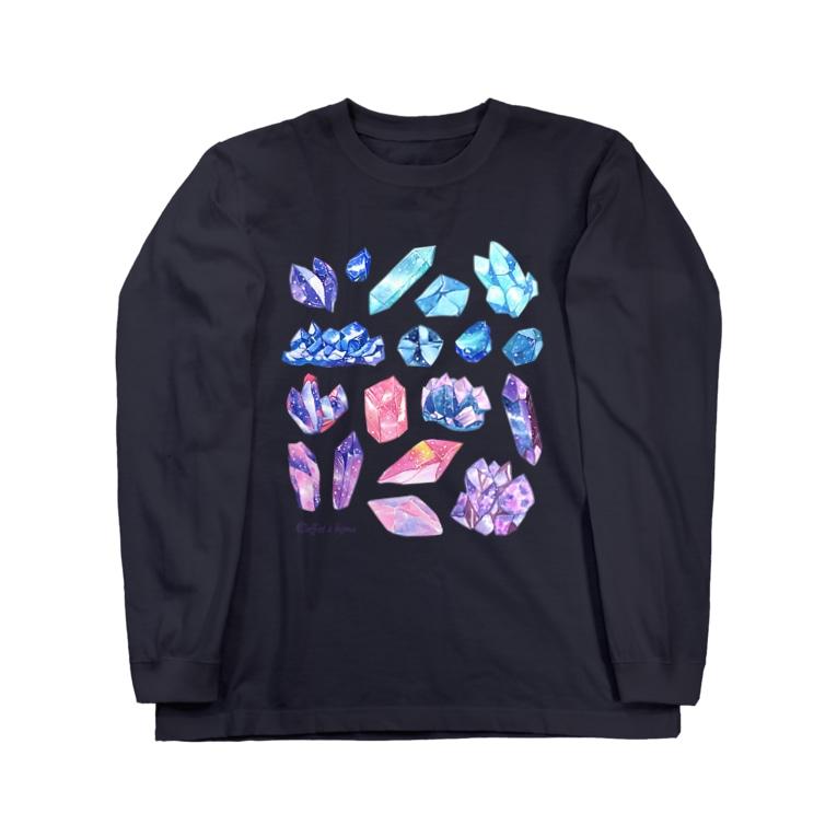 Coffret à bijouxの宇宙鉱物のコレクション Long sleeve T-shirts