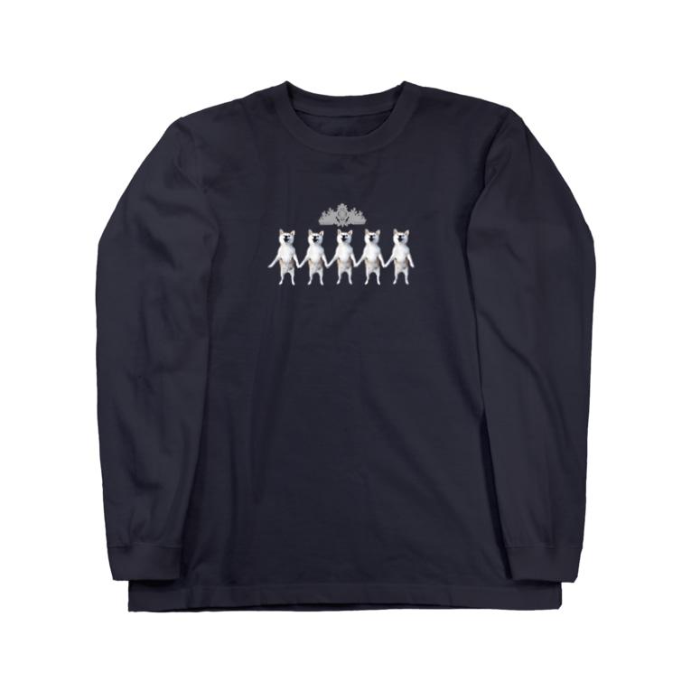 makonatuの仲良しこなつ Long sleeve T-shirts