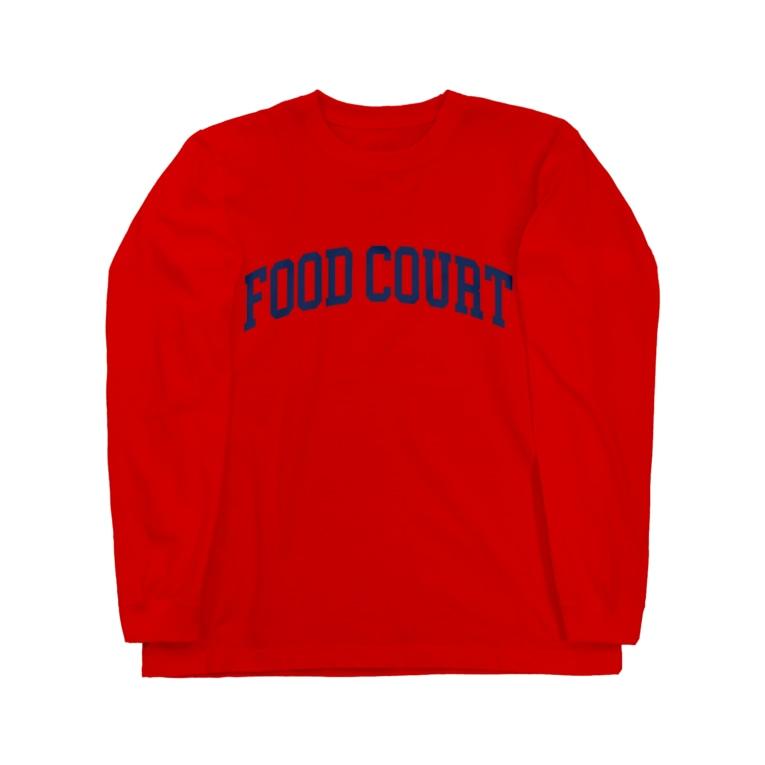 Goohy Warhol(グーヒー ウォーホール)のフードコート好きな人のロンT Long sleeve T-shirts