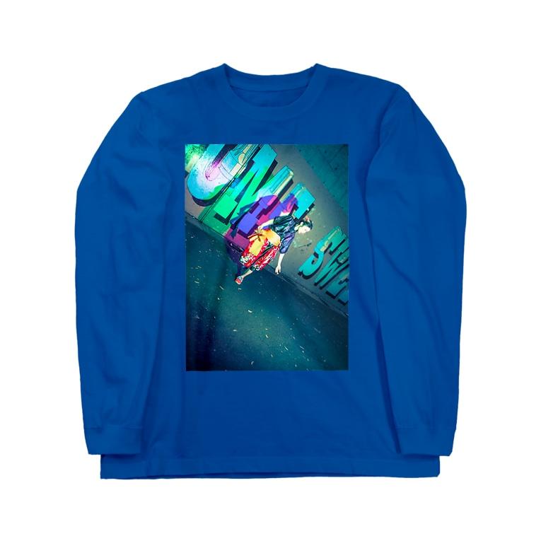 neon light starsのチャイナ Long sleeve T-shirts