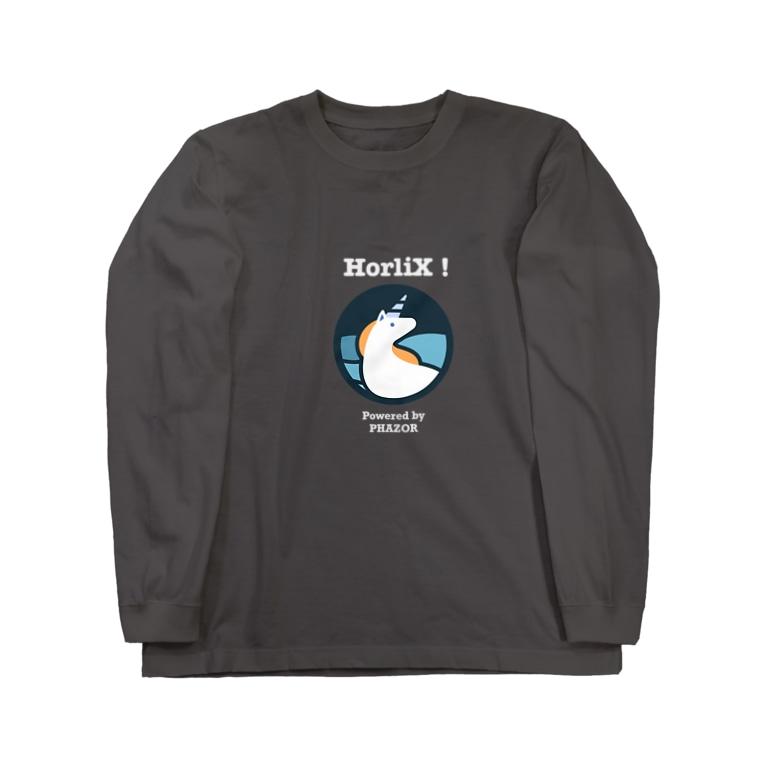 PHAZOR 公式のHorliX マスコットTシャツ Long sleeve T-shirts