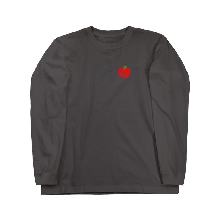 アダムトちゃん元気を授ける🍎のアダムト心臓Tシャツ! Long sleeve T-shirts