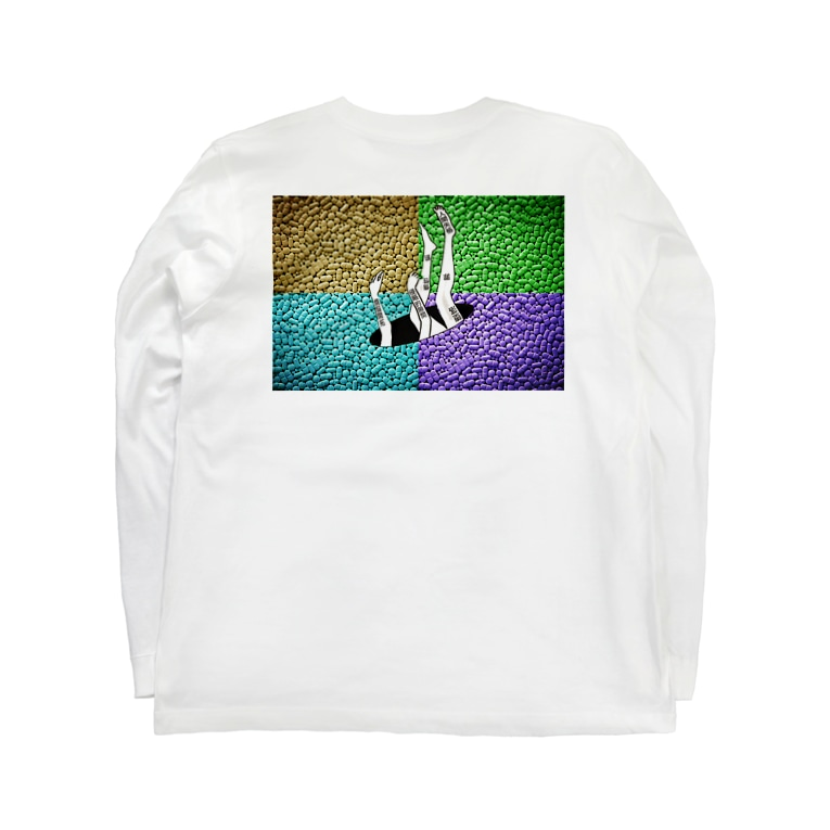 PSYCHEDELIC ART Y&Aの脱落 Long sleeve T-shirts