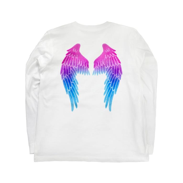 Angel channeling Art 天使のお部屋の天使の羽根2 Long sleeve T-shirts