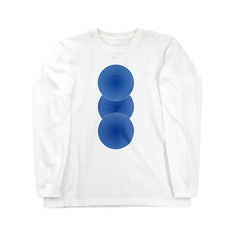 nobukoの藍三重丸 Long sleeve T-shirts