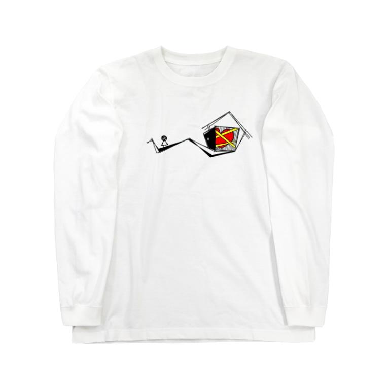 KAMIKAKUSHIの立入禁止 Long sleeve T-shirts