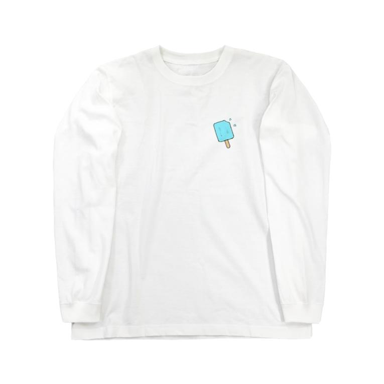 ぱくぱくショップのソーダ アイス Long Sleeve T-Shirt