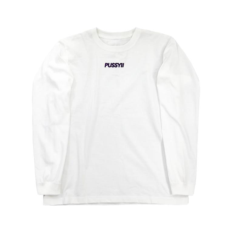 aitaryoのネットスラングTシャツ「pussy」 Long sleeve T-shirts