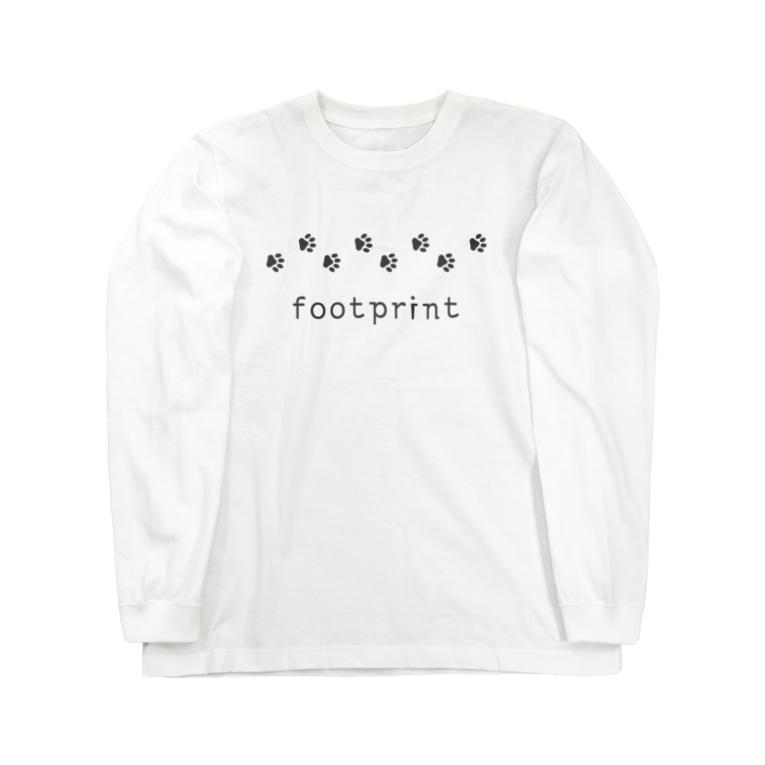 hitokoto-kotobaのhitokoto-kotoba_footprint Long sleeve T-shirts