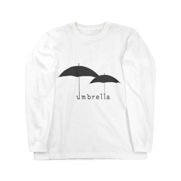 hitokoto-kotobaのhitokoto-kotoba_umbrella Long sleeve T-shirts