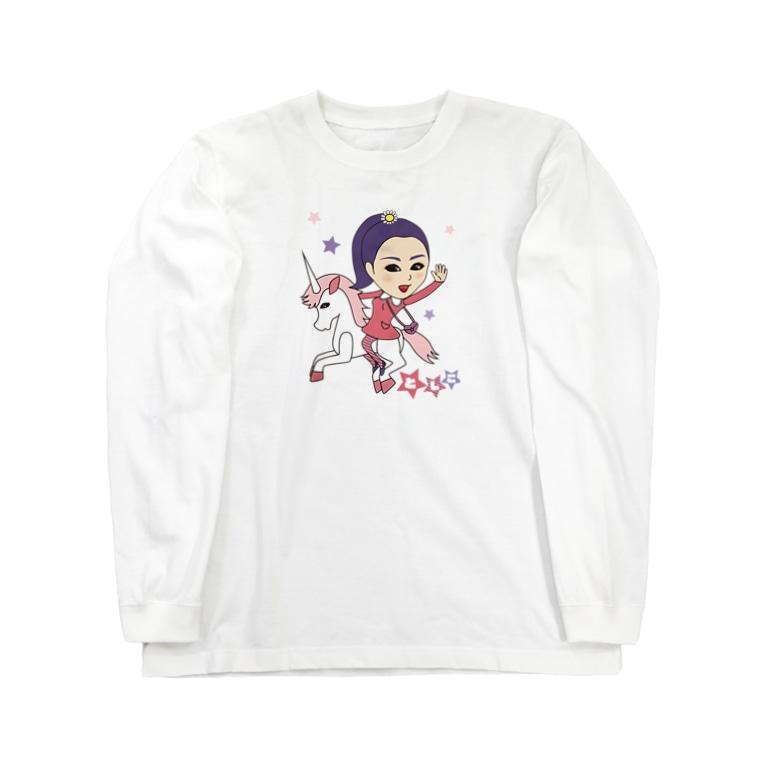 雅美と一郎の店のとしこ。 Long sleeve T-shirts