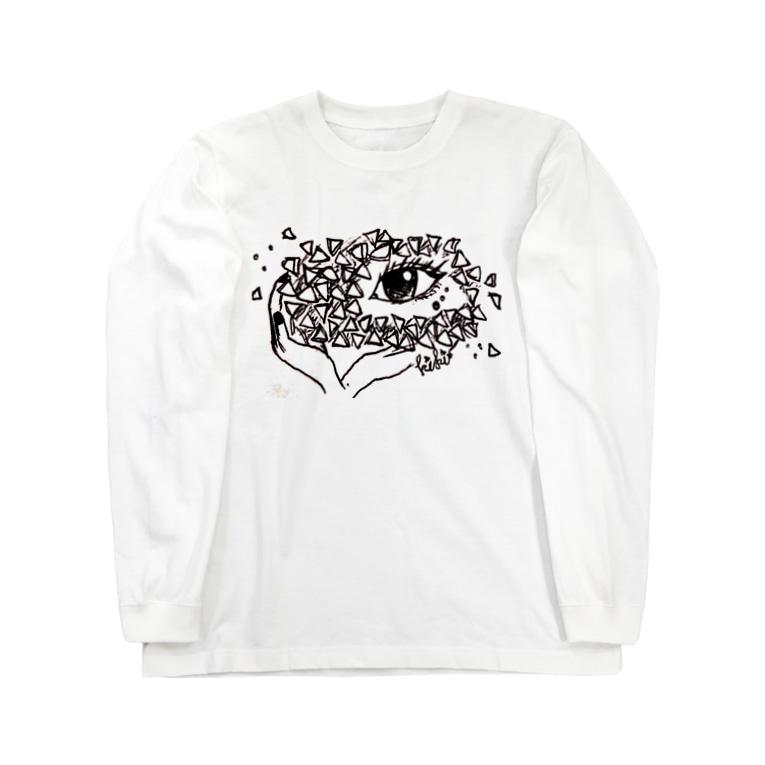 kiki目のkiki目 ▽ Long sleeve T-shirts