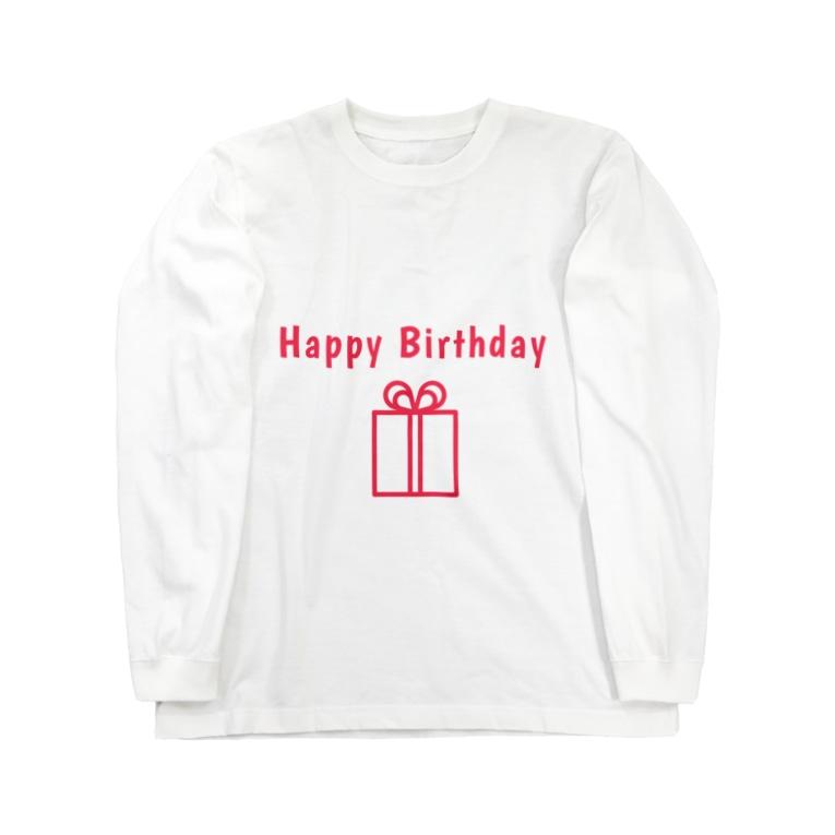 mariberu キッズ☆子供☆ママ☆パパ☆ペアのHappy Birthday  Long sleeve T-shirts