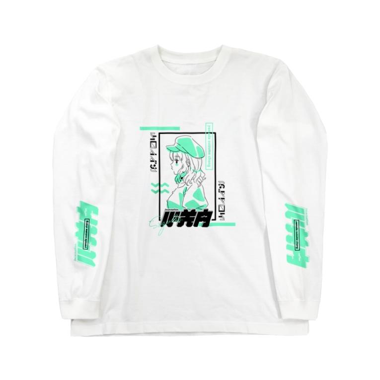 山田すずめ🕊の山田すずめちゃん グリーン Long sleeve T-shirts