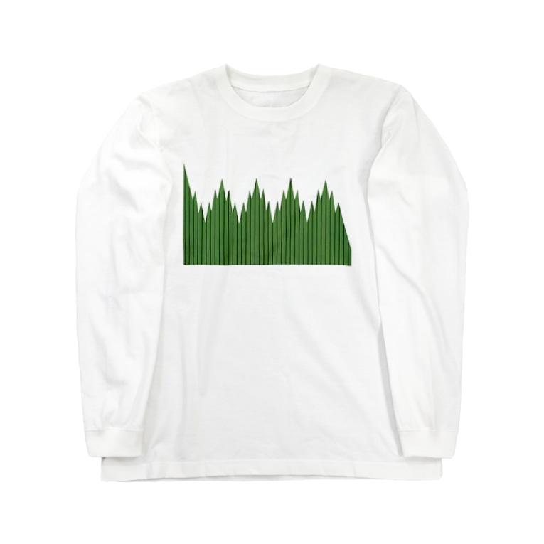 魚占のバラン Long sleeve T-shirts